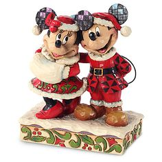 Holiday Minnie and Mickey Mouse Figure by Jim Shore | Figurines & Keepsakes | Disney Store