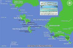 map of sihanoukville cambodia islands