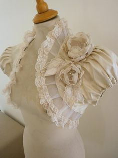 LUNA champagne dupioni silk bolero jacket wedding shrug wrap bridal shrug champagne bolero jacket victorian bolero jacket. $104.00, via Etsy.