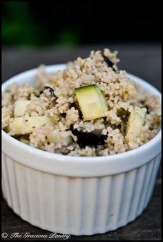 Clean Eating Raw Zucchini Couscous With Lime And Olives