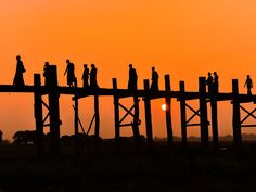 One of Myanmar's most photographed sites is not just nice to look at—there's history here, too. The oldest (and longest) teak footbridge in the world, U Bein is made from the remains of a former royal palace. The 0.75-mile bridge curves slightly over Taungthaman Lake, and is most popular at sunset. Want to avoid the throngs of tourists? Try just after sunrise, when hundreds of villagers and monks use it to commute by foot.