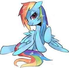 Rainbow Dash wet mane.