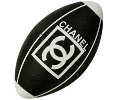 CHANEL GRAINED RUBBER RUGBY BALL