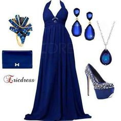 Royal Blue dress & accessories