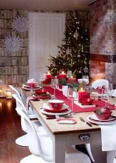 Christmas Decorations Home Design Photos Design Shop, Home Design, Best Home Interior Design, Christmas Tabletop, Christmas Tablescapes, Christmas Table Decorations, Christmas Themes, Breakfast Table Setting, Breakfast Set