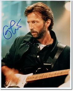 Eric Clapton: looking really cool here, Eric was quite possibly the inventor of the Blues/Rock guitar genre that know and appreciate so well today.