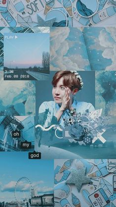 Aesthetic Aesthetic Collage, Blue Aesthetic, Kpop Aesthetic, Hoseok Bts, Bts Bangtan Boy, Jhope, Park Jimim, Bts Wallpapers, Foto Top