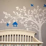 Pop Decors 100 in. x 79 in. Big Tree with Love Birds Tree Removable Wall Decal, White Tree/ Vivid Blue Birds and Bird House Nursery Wall Stickers, Kids Wall Decals, Removable Wall Decals, Vinyl Wall Art, Vinyl Decals, Baby Room Art, Baby Wall Art, Baby Room Decor, Wall Decor