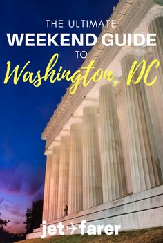 Washington is the buzzing capital of the United States, and is in the midst of a revival. No matter what you're interested, there are awesome things to do in Washington, DC. This city might surprise you! Click through to learn about how to spend a weekend Usa Travel Guide, Travel Usa, Travel Tips, Travel Guides, Washington Dc Activities, Europe Weekend Trips, East Coast Usa, Visit Usa, Washington Dc Travel