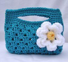 Crochet Shell Stitch Granny Stripe Boutique Bag Free Pattern