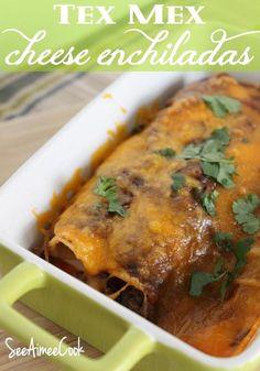 Tex Mex Cheese Enchiladas