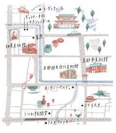 Maps : Masako Kubo. Smitten with this illustrator.