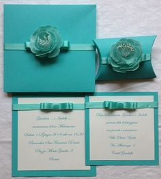 partecipazione nozze color tiffany partecipazioni matrimonio eleganti