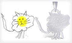 Send them your child's drawing and they will turn it into a sterling silver pendant