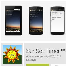 An app for reminding you take your photos at sunset - the golden hour - in photography.   #tech #photography