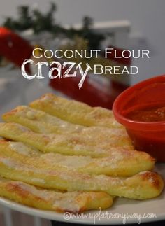 Crazy Bread » Low Carb » Gluten Free | Up Late Anyway KETO 1 1/4 cups shredded mozzarella (140 grams) 1 egg 2 tbsp's coconut flour 1 tbsp heavy cream