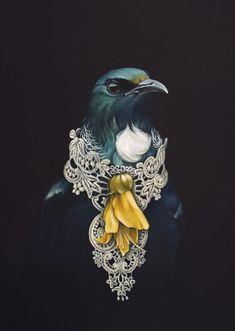 She Of The Kowhai Tree by Jane Crisp - Art Prints New Zealand Tui Bird, Maori Designs, New Zealand Art, Nz Art, Maori Art, Kiwiana, Bird Art, Art Inspo, Cool Art