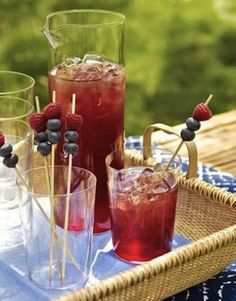 4th of July Party Ideas - Fruit Kabob Drink Accessories