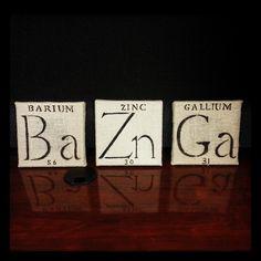 Big Bang Theory inspired burlap canvas art. Bazinga!