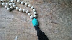 108 Mala Bead Necklace, Buddha Necklace, Beaded Necklace, Mala, Yoga Necklacce, Skullznbeadz Necklace - pinned by pin4etsy.com