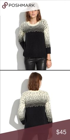 Madewell driftstitch sweater SUNDAY SALE In good to fair used condition: some pilling, but no stains or snags. Very soft!! This sweater is well-loved but I need some closet space 😛 price goes up Monday Madewell Sweaters Crew & Scoop Necks