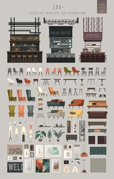 TRICKY scene creator - set of vector interior elem. - TRICKY scene creator - set of vector interior elem. - - # - # Furniture sketch TRICKY scene creator - set of vector interior elem. Layout Design, Level Design, Cafe Design, Design Shop, Web Design, House Design, Design Art, Design Table, Urban Design