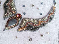 Necklaces handmade raboty.Vyshyvka biserom.Elena (Rainbow Witch). Fair masters.