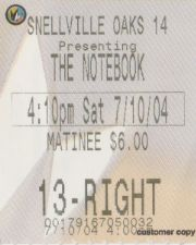 The Notebook (7/10/2004)