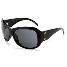 Electric Visual Mayday Women's Oversized Sunglasses Gloss Black Frame Grey Lens