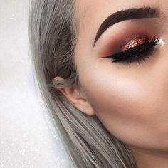 Copper pink makeup inspo ❤️ Firma Brushes