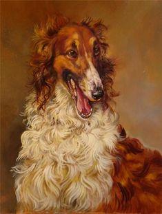 Portrait of borzoi. #borzoi #dogs #Russian