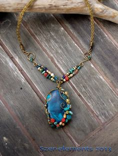 Ocean within - turquoise pendant