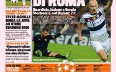 Rassegna Stampa, prima pagina della Gazzetta dello Sport dedicata alla disfatta giallorossa #rassegna #stampa #calcio #juventus #roma
