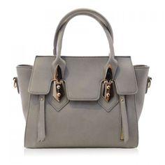 Fashion Metallic and PU Leather Design Women's Tote Bag