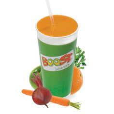 27th July - Dinner - Boost Juice Kezza Juice (Carrot, Celery, Beetroot, Lemon, Ginger and Passionfruit)