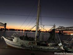 Shrimp Boat at sunset Morgan City, Shrimp Boat, Sailing Ships, Louisiana, Sunset, Sunsets, Sailboat, The Sunset, Tall Ships