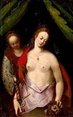 Dirk de Quade van Ravesteyn (1565 – 1619, Dutch) 'Judith With The Head Of Holofernes'