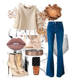"""""""hello flares, i'm slowly adapting to you!"""" by shivaevangelica on Polyvore featuring In Your Dreams, STELLA McCARTNEY, Abercrombie & Fitch, Lime Crime and Gucci"""