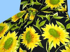 Exklusiver Baumwoll -  VOILE   mit Sonnenblumen von STOFFLISI auf Etsy