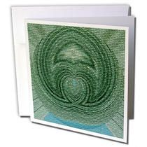 3dRose - Jos Fauxtographee Designs - A design made from green and blue crackled - Greeting Cards