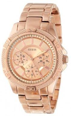 Relógio GUESS Women's U0235L3 Rose Gold Tone Dynamic Feminine Sport Midsize Watch #Relogios #Guess