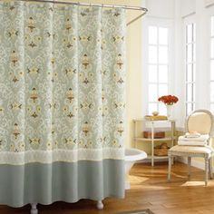 Pretty shower curtain
