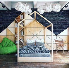 """Bedroom for a child in loft """"Rassvet"""" Teenage Room, Kids Bedroom, Bedroom Loft, Kids Room Design, Kids Corner, Kid Beds, Decoration, Girl Room, House Design"""