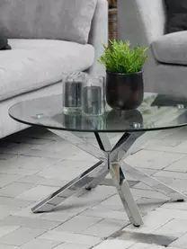 Mesa de centro redonda Emilie, tablero de cristal | WestwingNow Designer Couch, Modern Design, Metallica, Furniture, Home Decor, Products, See Through, Round Coffee Tables, Coffee Tables