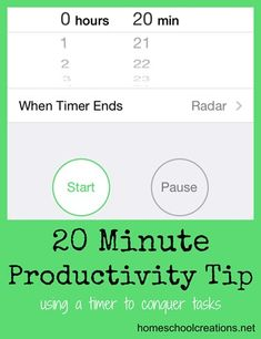 How to Be More Productive in 20 Minutes -- such an inspiring post!