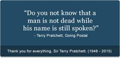 People don't truly die until no one alive remembers them and their impact is no longer felt!