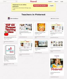 A good board with a number of pins to teachers in and ideas about teaching with Pinterest. (Screenshot courtesy of Pinstamatic pinstamatic.com) Teaching Kids, School Stuff, Coding, Training, Number, Education, Children, Board, Ideas