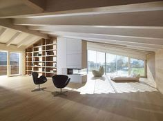 Apartment by Burnazzi Feltrin Architetti, Valcanover, Italy. Love how light and airy this is.