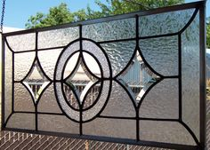 Beveled Stars Stained Glass Window