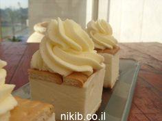 עוגת ביסקוויטים גבינה וקצפת   -ניקי.ב